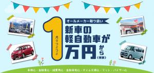 月々1万円から乗れる